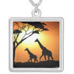 Giraffe family pendant