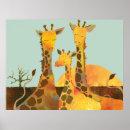 Giraffe Family Poster print