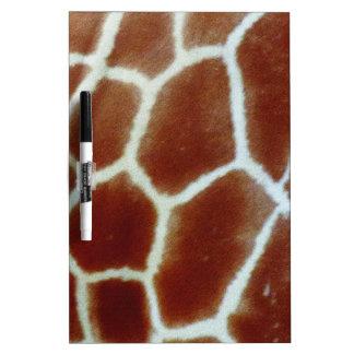 giraffe faux fur Dry-Erase board