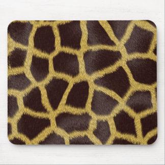 Giraffe Faux Fur Mouse Pad