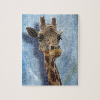 Giraffe Fine Art Portrait of Heshimu Jigsaw Puzzle