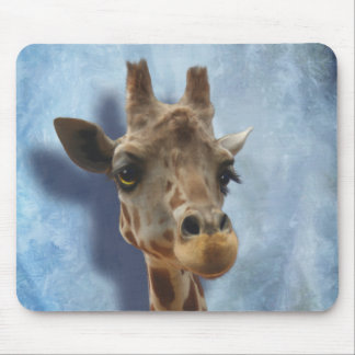 Giraffe Fine Art Portrait of Heshimu Mouse Pad