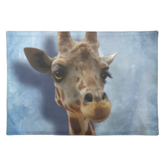 Giraffe Fine Art Portrait of Heshimu Placemat