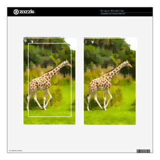 Giraffe from Safari Kindle Fire Decals