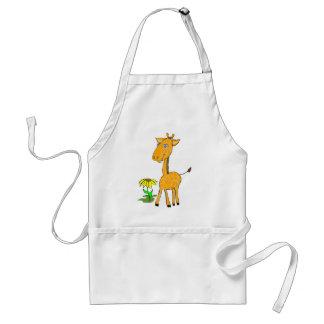 giraffe fun day adult apron
