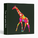 Giraffe funky retro floral photo album, binder