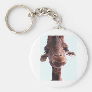 Giraffe Funny Face Key Chains