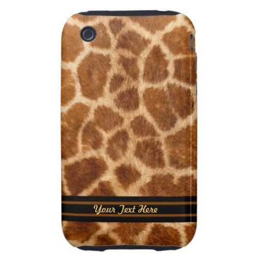 Giraffe Fur 3G  Tough - Personalize iPhone 3 Tough Covers