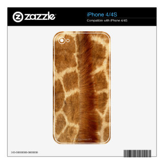 Giraffe Fur Decals For The iPhone 4
