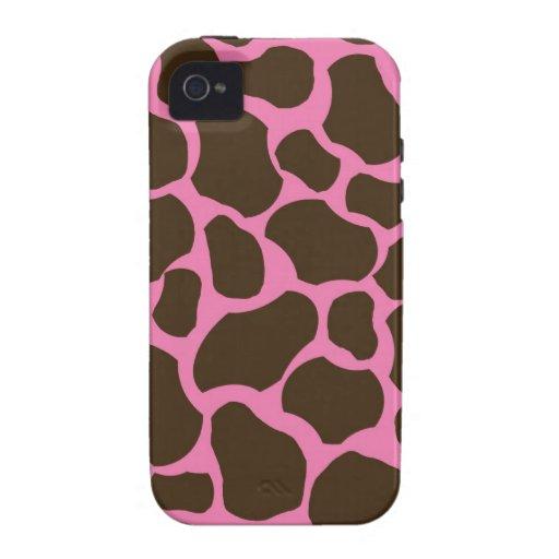 Giraffe fur skin girly nature pattern animal print iPhone 4 cover