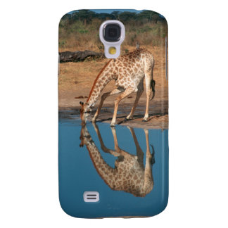 Giraffe (Giraffa Camelopardalis) Drinking Galaxy S4 Covers