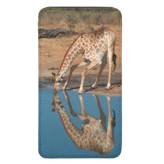 Giraffe (Giraffa Camelopardalis) Drinking Galaxy S5 Pouch