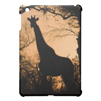 Giraffe (Giraffa camelopardalis) silhouette iPad Mini Covers