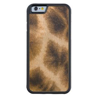 Giraffe (Giraffa Camelopardalis) Skin Carved® Maple iPhone 6 Bumper Case