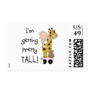Giraffe- Girl Getting Tall Tshirts and Gifts Stamps