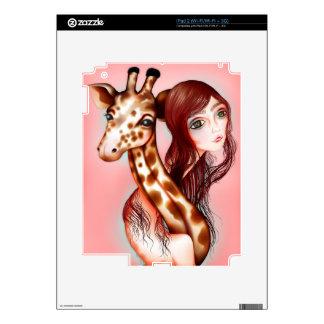 """""""Giraffe Girl"""" iPad 2 skin"""