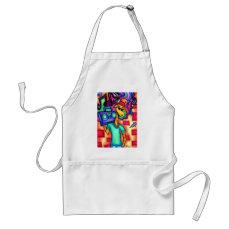 Giraffe graffiti artist adult apron