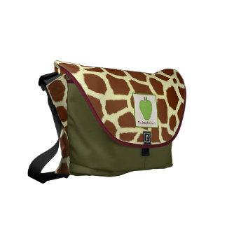 Giraffe & Green Apple Teacher Messenger Bag