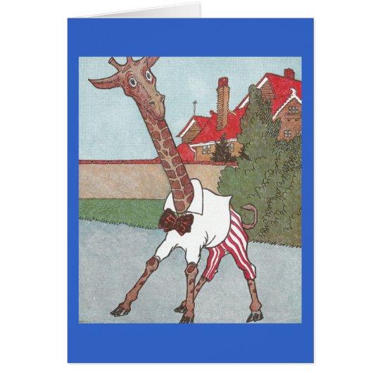 Giraffe Grows by a Neck Card