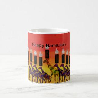 Giraffe Hannukah Lights Coffee Mug