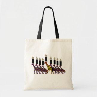 Giraffe Hannukah Menorah Budget Tote Bag