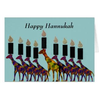 Giraffe Hannukah Menorah Cards
