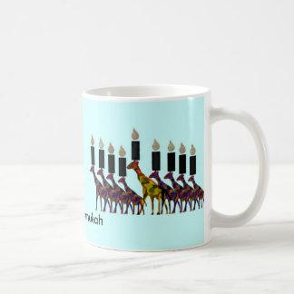 Giraffe Hannukah Menorah Coffee Mug