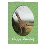 Giraffe happy birthday card card