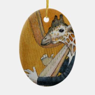 Giraffe Harp Player Ornament
