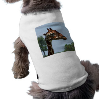 Giraffe head against blue sky photograph picture tee