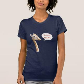 Giraffe head and neck portrait. humor T-Shirt