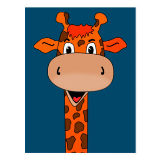 giraffe head and neck postcard