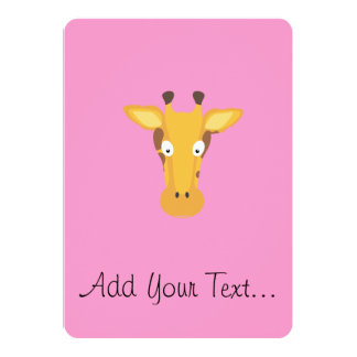 Giraffe head card