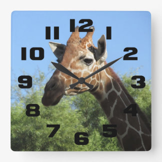 Giraffe Head Clock