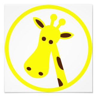 Giraffe Head Photo Print