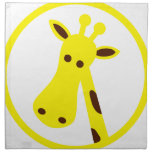 Giraffe Head Printed Napkin