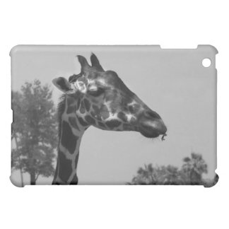Giraffe head with plants and sky photograph case for the iPad mini
