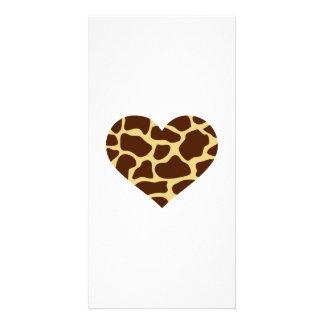 Giraffe heart card