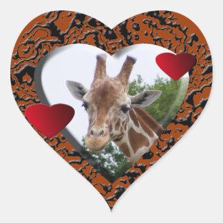 Giraffe Heart Heart Sticker