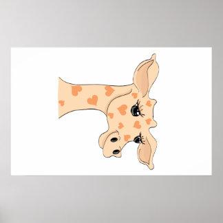 Giraffe Heart Poster