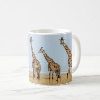 Giraffe Herd in Grassland Coffee Mug