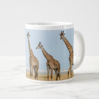 Giraffe Herd in Grassland Giant Coffee Mug