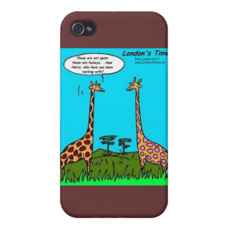 Giraffe Hickeys Funny Gifts Mugs & Cards iPhone 4 Case