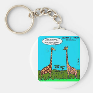 Giraffe Hickeys Funny Gifts Tees Mugs & Cards Basic Round Button Keychain