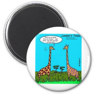 Giraffe Hickeys Funny Gifts Tees Mugs & Cards Refrigerator Magnet