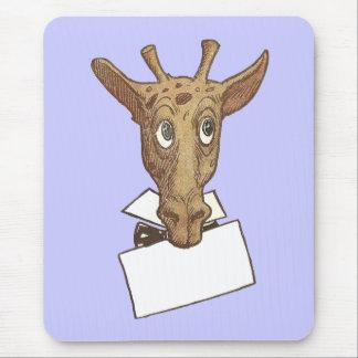 Giraffe Holding a Message Mousepad