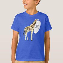 Giraffe How's the Weather Down There? T-Shirt