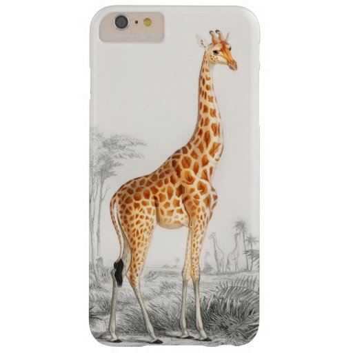Giraffe Illustration Vintage Art Print Barely There iPhone 6 Plus Case