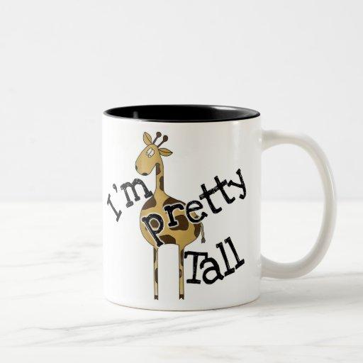 Giraffe I'm Pretty Tall Two-Tone Coffee Mug