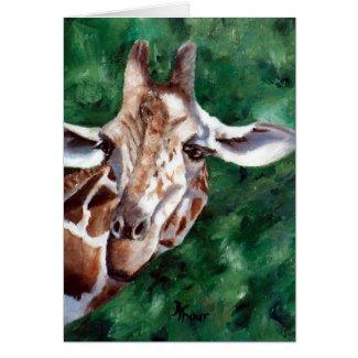 Giraffe I'm Up Here Blank Card card